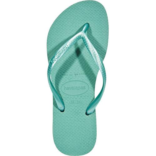 havaianas Slim - Sandales Femme - vert sur campz.fr ! Prix Bas T0kd3Vvkn